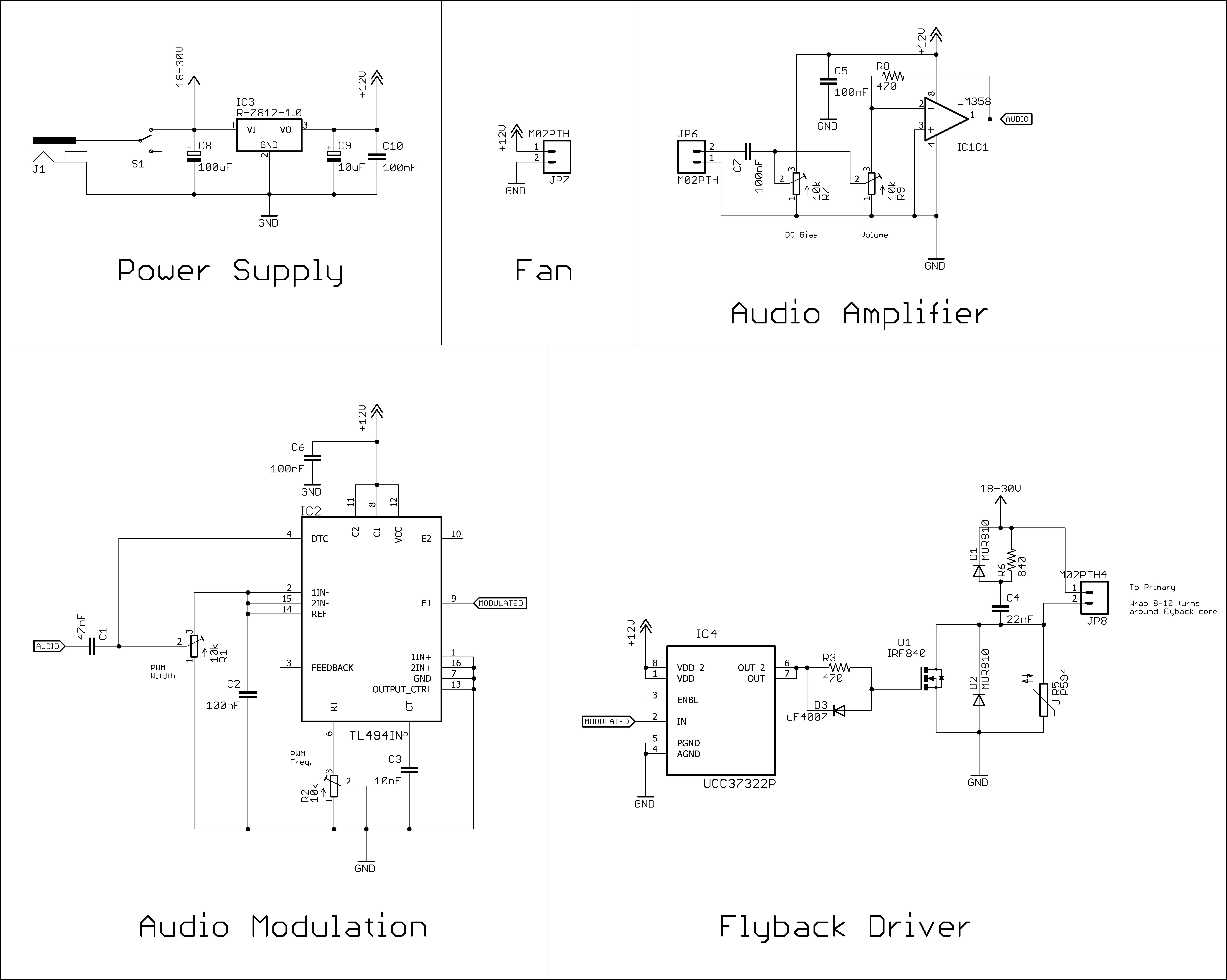 Plasma Speaker Alex Wende Crt Schematic Diagram
