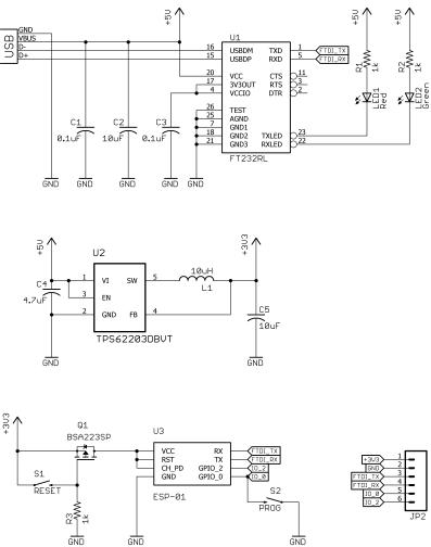ESP8266 Programmer Schematic