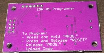 ESP-01 Programmer Back
